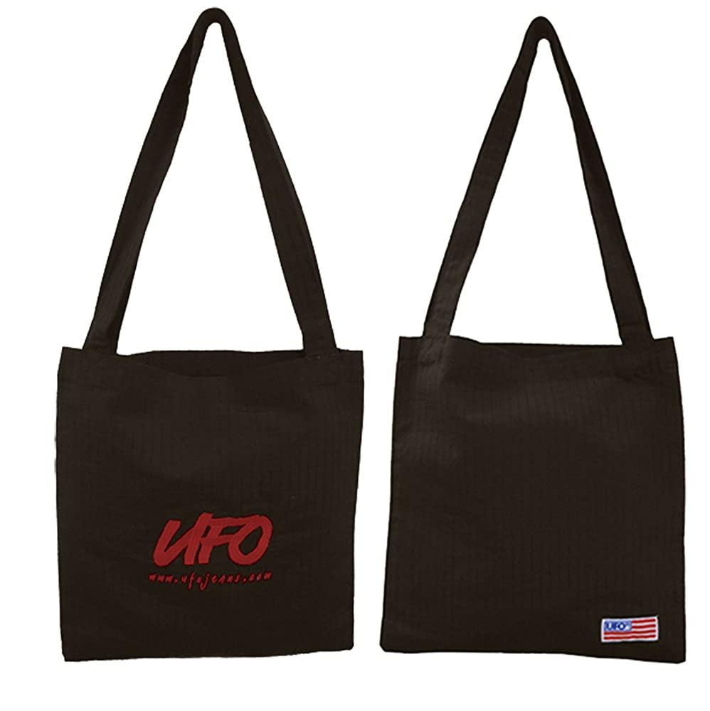 UFOs Embroidered Tote Bag in Parachute Fabric