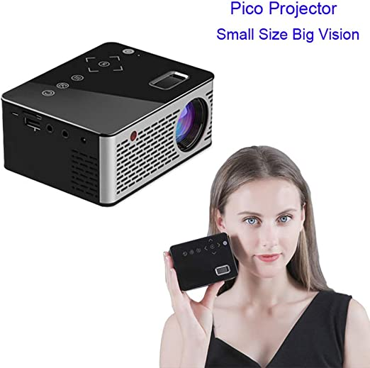 TONGTONG LED Mini proyector HD portátil HDMI USB AV Soporte Power ...