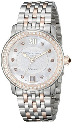 Frederique Constant Women's FC303WHF2PD2B3 World Heart Federation Diamond-Accented Rose-Gold-Plated Stainless Steel Watch