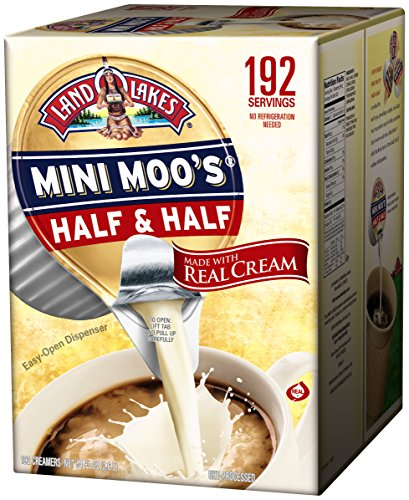 Large Product Image of Land O Lakes Mini Moos Creamer Half and Half Cups 192 Count 54 fl oz (Pack May Vary), Individual Shelf-Stable Half and Half Pods for Coffee Tea Hot Chocolate, Made with Real Cream