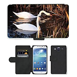 Hot Style Cell Phone Card Slot PU Leather Wallet Case // M00113899 Swans Swan Bird Water Animals // Samsung Galaxy S3 S III SIII i9300