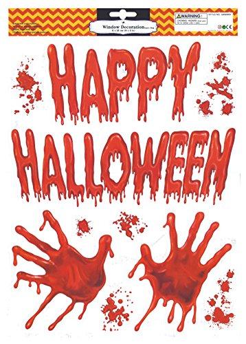 Halloween Window Clings Bloody -