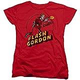 Flash Gordon Zang Womens Short Sleeve Shirt Red LG