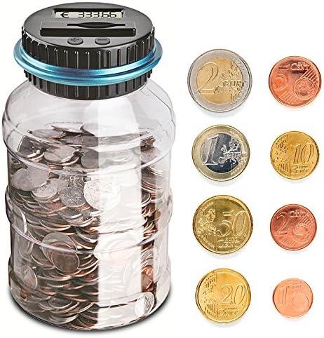 Frontoppy Contador Digital Hucha para EUR, Automático Moneda ...
