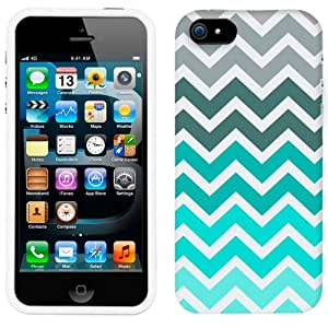 meilz aiaiApple iPhone 5s Chevron Grey Green Turquoise Pattern Phone Firm Casemeilz aiai