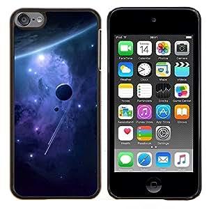 Qstar Arte & diseño plástico duro Fundas Cover Cubre Hard Case Cover para Apple iPod Touch 6 6th Touch6 (Espacio Planetas)