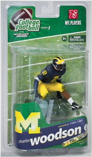 McFarlane Toys NCAA COLLEGE Football Sports Picks Series 3 Action Figure Charles Woodson (Michigan Wolverines) Blue Jersey by McFarlane