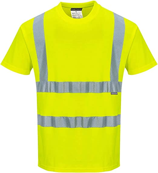 PORTWEST HI-VIS S//S T-SHIRT SIZES SMALL TO X-LARGE   BNWT
