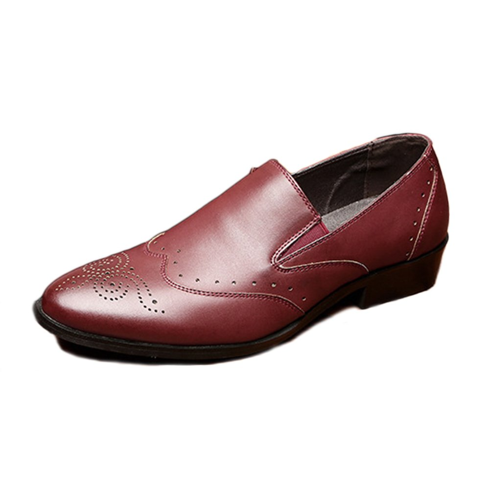 Feidaeu - Zapatos de Material Sintético Hombre 43 EU Borgoña