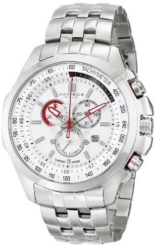 - Akribos XXIV Men's AK660SS Conqueror Swiss Quartz Chronograph Stainless Steel Bracelet Watch