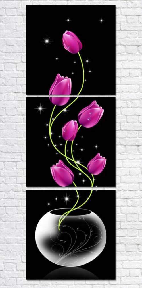 YLB Pared Arte sin Marco Pintura HD Arte Micro Chorro de Tinta simulación Aceite Pintura Villa casa decoración Triple cártamo Lienzo impresión Sala ...