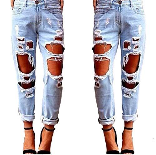 Skyeye 1* Pice Mme Jeans en Vrac Jeans Sexy Gros Trou Girs