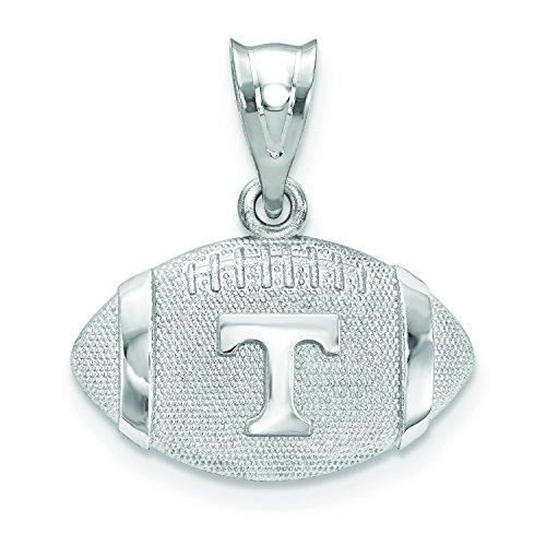 Logoart Sterling Silver University Of Tennessee Football Pendant