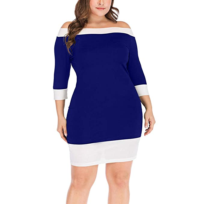7de984cc4e Awesomecar Women Casual Solid Long Sleeve Off Shoulder Top Plus Size ...