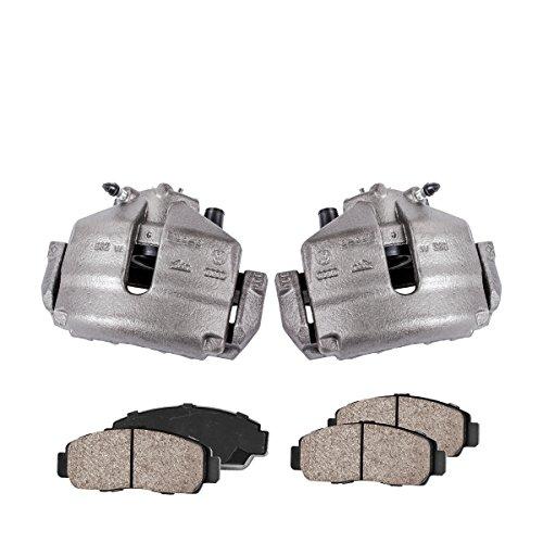 - COEK00574 [2] FRONT Premium Loaded OE Caliper Assembly Set + Quiet Low Dust Ceramic Brake Pads + Sensors