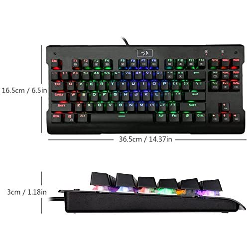 875bcbc854f 80%OFF Redragon K561 VISNU 87 Keys Anti-ghosting RGB Backlit Waterproof  Mechanical Gaming