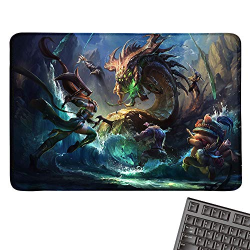 Medium Mouse Pad Computer Mouse Pad Mousepad for PC Gaming Ergonomic Mouse pad Dual Use Desk Writing Mat for Office/Home(W15.7