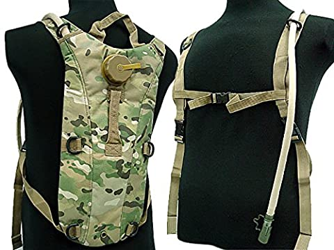 Cycling Hydration Pack 2.5L Bladder Water Backpack Airsoft Camping Hiking CP - Airsoft Hydration Pack