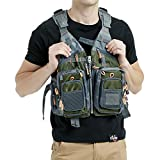 Mounteen Fly Fishing Vest Pack Adjustable Size for Men and Women with Breathable