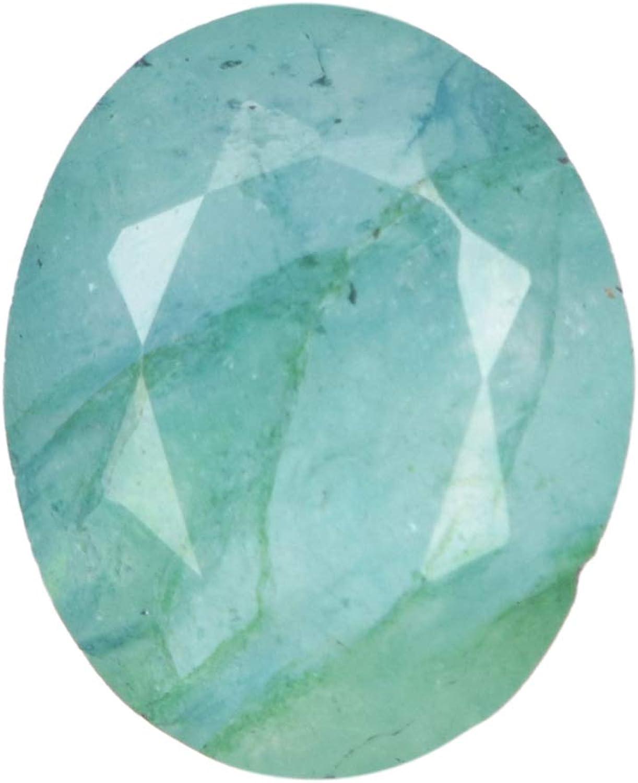 Real Gems 4.00 CT de Piedras Preciosas Sueltas de Forma Ovalada Esmeralda Natural, Anillo Que Hace la joyería Que Hace la pequeña Piedra Esmeralda