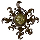 NOVICA Artisan Crafted Painted Steel Sun Large Iron and Ceramic Wall Art, Brown and Yellow 'Sumptuous Sun' Review
