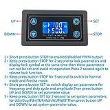 PEMENOL Signal Generator, DC 3.5-12V Adjustable PWM Pulse Frequency Duty Cycle 1Hz-150KHz Motor Controller LCD Display