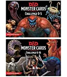 D&D: Monster Cards 5e Bundle Including Monster Cards - Challenge 0-5 Deck and Challenge 6- 16 Deck by Gale Force Nine (2 Items)