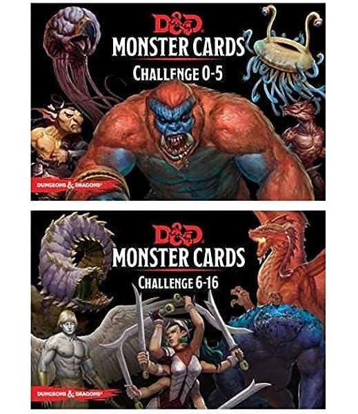 D&D: Monster Cards 5e Bundle Including Monster Cards