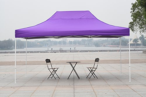 American Phoenix 10x10 10x15 10x20 [White Frame] Portable Event Canopy Tent, Canopy Tent, Party Tent Gazebo Canopy Commercial Fair Shelter Car Shelter Wedding Party Easy Pop Up (Purple, 10x15)