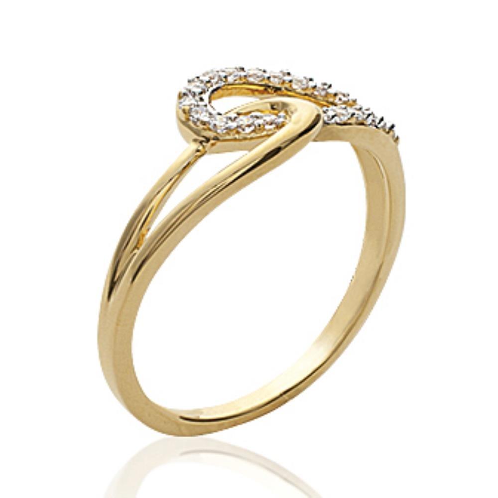 ISADY - Tanais Gold - Bague femme - Plaqué Or 750/000 (18 carats) - Oxyde de Zirconium