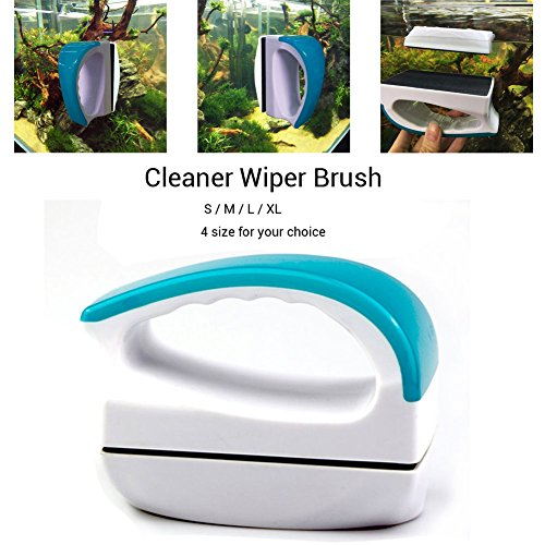 Surface Wipers (Zlimio Fish Tank Cleaner,Magnetic Floating Fish Tank Glass Window Double Side Cleaner Wiper Brush S)
