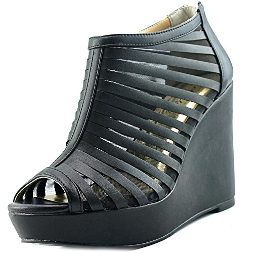 Black Thalia Fabric Toe Sandals Platform Millo Special Occasion Sodi Peep Womens OOxqgCv7