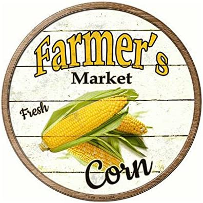 Smart Blonde Farmers Market Tomatos Novelty Metal Circular Sign C-595 1472-C-595