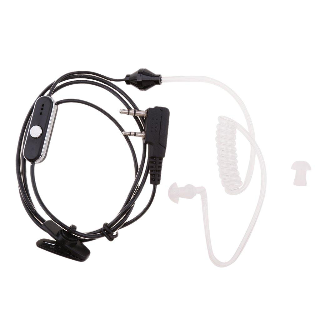 Clip Ear Earpiece Headset Earphone Mic PPT for Kenwood 2-Way Radio Walkie Talkie