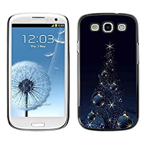 YOYO Slim PC / Aluminium Case Cover Armor Shell Portection //Christmas Holiday Black & Gold Tree 1112 //Samsung Galaxy S3