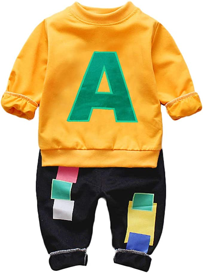strategia Vento forte Insegnante di scuola  Completo Bambini Ragazze Vestiti Set Bambini Set Vestiti Bambini Abiti Abbigliamento  Bambino Bambini Ragazzi Lettera Vestiti Pezzi A Manica Lunga T-Shirt +  Pantaloni Abiti Set: Amazon.it: Abbigliamento
