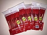 5 Pack of 10 Office Depot Ballpoint Pens 50 Total (Red)