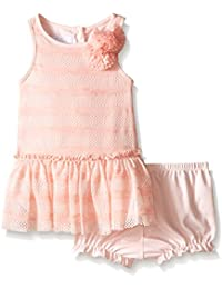 Baby Girls' Peach Lace Sundress