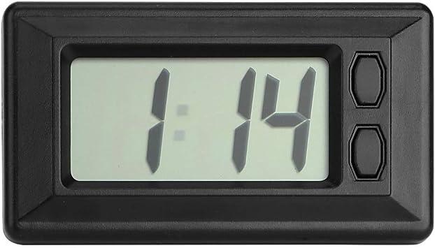 Auto Styling Fahrzeugdekoration Mini Auto Uhr Innenzubehör Auto Ornamente Auto Lcd Digital Display Uhr Selbstklebend Auto
