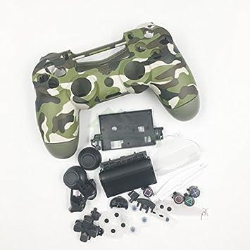 Amazon.com: Camuflaje carcasa juego de botón de repuesto ...