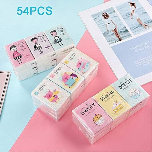 HHORD Ultra Soft 3 Ply Taschen-Kosmetiktücher-Schön Stark, Weich Und Seidig-Elegante Pakete-Insgesamt 54 Einzelpakete, Handkerchief Papier, Taschentücher