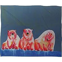 DENY Designs Clara Nilles Polarbear Blush Fleece Throw Blanket, 40-Inch by 30-Inch
