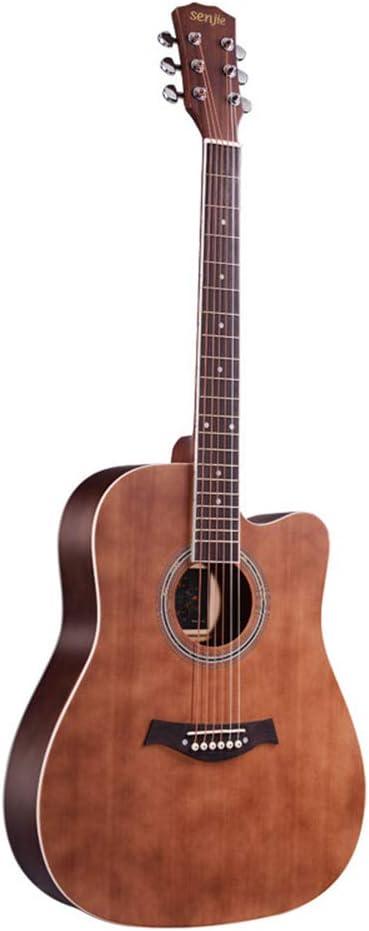 KJUHVBF Guitarra 41 \Fideos de Abeto D Tipo Barril Mate, Adecuado para Principiantes para Jugar la actuación