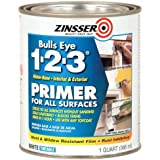 Rust-Oleum 2004 Zinsser Bulls Eye 1-2-3 White Water-Based Interior/Exterior Primer Sealer, 1-Quart by Rust-Oleum