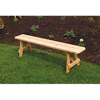 Amazoncom Outdoor Foot Traditional Pine Picnic BENCH ONLY - Unfinished wood picnic table