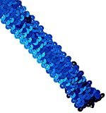 Three Row Stretch Sequins 1-1/8'' Wide 8 Yards-Royal