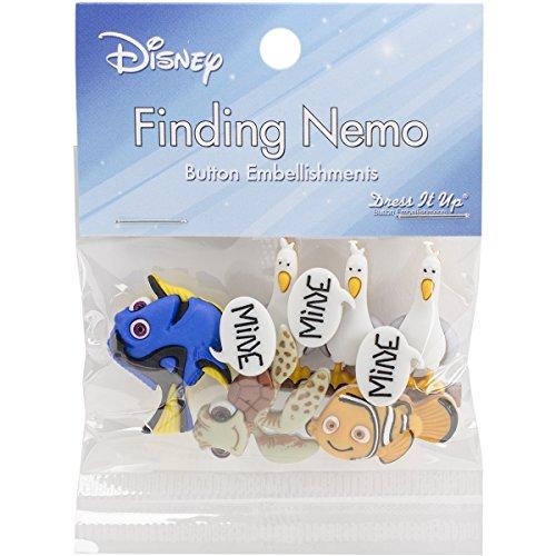 Dress It Up 7723 Disney Button Embellishments, Finding Nemo