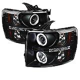 Spyder Auto PRO-YD-CS07-CCFL-BK Chevy Silverado 1500/2500/3500 Black CCFL LED Projector Headlight with Replaceable LEDs