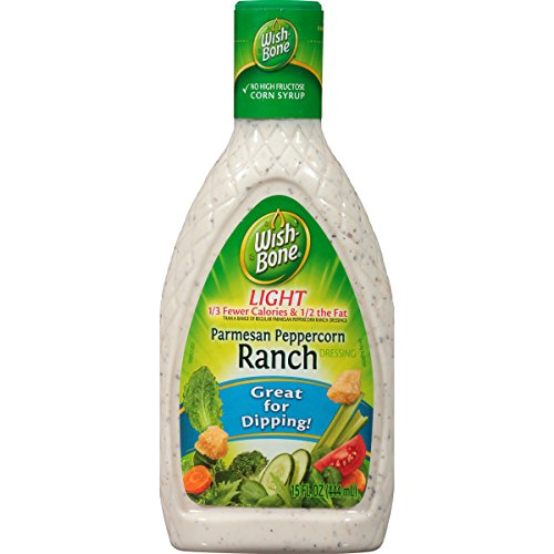 Creamy Parmesan Dressing (Wish-Bone Salad Dressing, Light Parmesan Peppercorn Ranch, 15 Ounce)