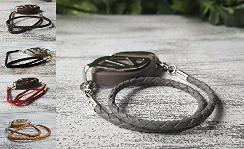 Leather Bolo Wrap Bracelet - Bellabeat Leaf (Leaf Silver Accessories)